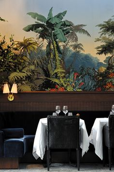 Casa Zuber Wallpaper | Laura Gonzalez | Stylish Parisian Restaurant.