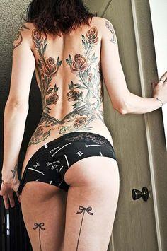 Thigh Bow tattoo.  HOT.