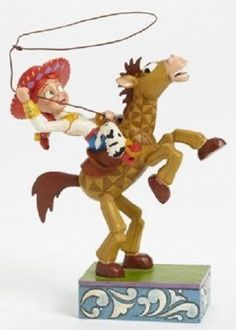 Jim Shore's Yee-Haw Jessie and Bullseye Disney Toy Story 2 Figurine. For cowgirls everywhere! #toystory