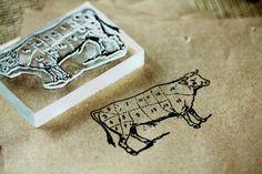 "Beef Cow #1, 18 Parts 2""x3"" Stamp"