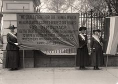 Here for your browsing pleasure is a rare photo of Woman Suffrage. Pickets at White House. It was made in 1917 by Harris & Ewing.
