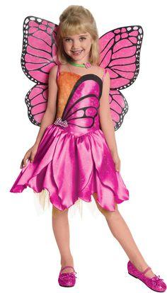 Toddler Girls Deluxe Mariposa Barbie Costume | Costume Craze