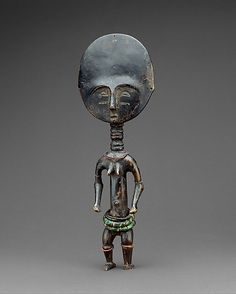 GHANA | Fertility Figure: Female (Akua Ba), 19th–20th century. The Metropolitan Museum of Art, New York. The Michael C. Rockefeller Memorial Collection, Bequest of Nelson A. Rockefeller, 1979