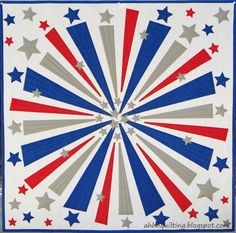 Firework Quilt Ahh Quilting Hanging Quilts, Quilted Wall Hangings, Quilt Festival, Quilting Projects, Quilting Designs, Quilting Ideas, Sewing Projects, Charm Pack Patterns, Circle Quilts