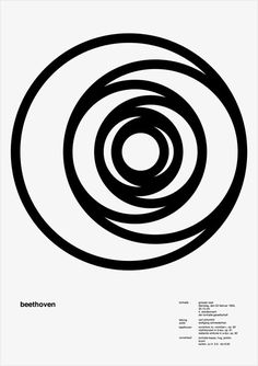 100 Days is a fascinating project by Jessica Svendsen in which she created daily variations of Josef Müller-Brockmann's excellent Beethoven concert poster. The project was part of the Michael Bierut 100 Days Workshop at the Yale School of Art.