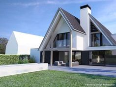 Tour And Travel Japan Product Modern Bungalow Exterior, Modern Bungalow House, Bungalow House Plans, Residential Architecture, Architecture Design, Building Design, Building A House, Modern Mediterranean Homes, Modern Villa Design