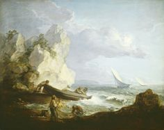 Thomas Gainsborough, 'Seashore with Fishermen', ca. 1781/1782, evocative portraiture and landscapes.