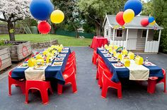 tables  Great for little one bday party :)