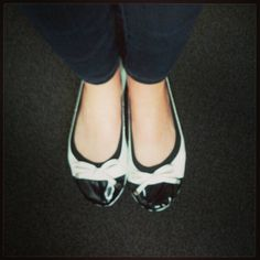 Rocking the black and white retro style in the office!