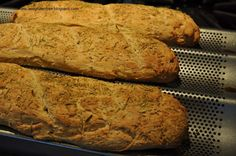 Gluten Free Rosemary French Baguettes