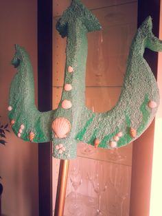 #Poseidon#sea#costum#trident Girl Costumes, Costume Ideas, Greek God Costume, Trident, Greek Gods, Holidays And Events, Halloween, Party, Dinosaur Stuffed Animal