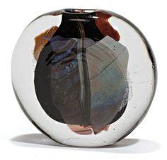 MONOD Claude (1944-1990) Vase en verre soufflé de forme densité, forme
