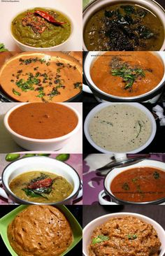Traditional 10 South Indian chutney recipes - for idly, dosa  , ,