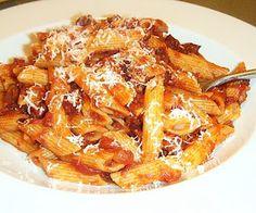 Penne Amatriciana http://best-recipes-uk.blogspot.co.uk/2011/04/penne-amatriciana.html