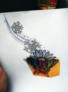 Calisalim hadi! #tattoobyhasan #antalyaaksamlari #tattoodesign #butterfly #snow #flowers #cizimler