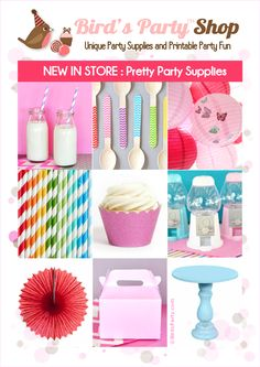 New in Store: Pretty Party Supplies !!! by Bird's Party #shopping #partysupplies #partyideas #partysuppliesonline