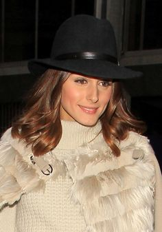 Olivia Palermo dons a fedora