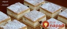 Jednoduché prísady a fantastický výsledok. Vyskúšajte úplne jednoduchý koláčik, ktorý tromfne aj zložité zákusky. Nuž darmo, naše babičky boli v kuchyni kúzelníčkami! Potrebujeme: Na cesto: 400 g hladkej múky 200 g masla alebo margarínu 150 g práškového cukru Štipku soli 2-3 lyžice mlieka 1 vajce Na krém: 600 ml kyslej smotany 2 bal. vanilkového alebo... Cornbread, Protein, Food And Drink, Sweets, Cheese, Cookies, Ethnic Recipes, Basket, Millet Bread