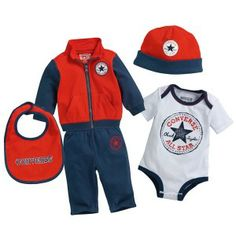 cae6e5800169 CONVERSE 5 Piece Tracksuit Set Infant - Blue   Red   White Star Clothing