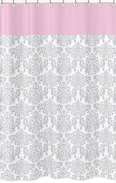 pink and yellow shower curtain. Jojo Designs Shower Curtain  Elizabeth Pink Damask Dragonfly Dreams Sweet