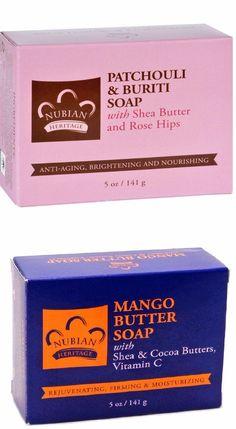 (Twin Pack) (2) Nubian Heritage  Patchouli & Mango Soaps /  5oz Shea Butter Bar #NubianHeritage