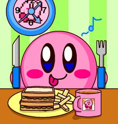 Kirby Have Eating Breakfast by cuddlesnam.deviantart.com on @DeviantArt