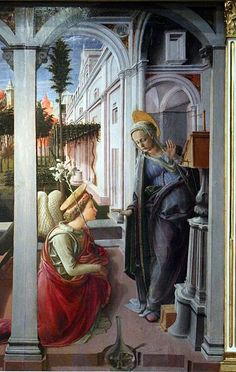 Filippo Lippi, Annunciazione Martelli, dettaglio, 1440, Basilica di San Lorenzo, Firenze
