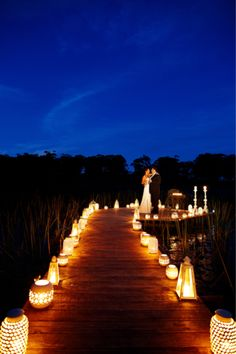 lanterns to line the path for ceremony or dance floor