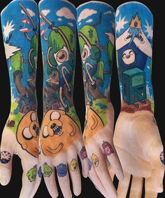 Adventure Time Tattoo Sleeve