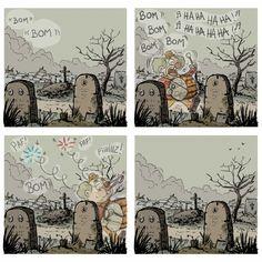 Le clown du cimetière #imagedrole #webcomics #humour par Prims