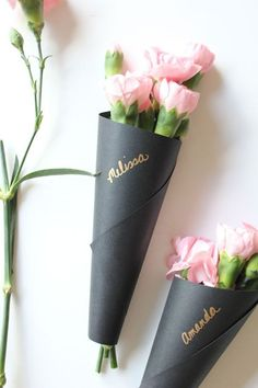 Wrap your Valentine's Day bouquet in chic cardstock.