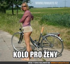 Kolo pro ženy Good Jokes, Funny Jokes, Twisted Humor, Adult Humor, I Laughed, Bicycle, Challenges, Swimming, Lol