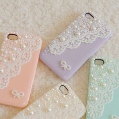 Pastel phone cases(:
