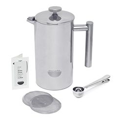 Special Offers - Es Perto Stainless Steel French Press Coffee Maker | 34 Ounce Double Wall Insulated Manual Portable Chrome Finish For Sale - In stock & Free Shipping. You can save more money! Check It (October 22 2016 at 08:22PM) >> http://dripcoffeemakerusa.net/es-perto-stainless-steel-french-press-coffee-maker-34-ounce-double-wall-insulated-manual-portable-chrome-finish-for-sale/