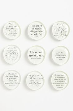 Ben's Garden 'Script Quote' Superstrong™ Magnets | Nordstrom