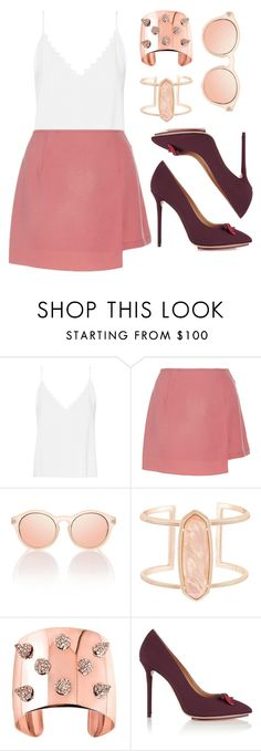 """""""Untitled #5850"""" by cherieaustin ❤ liked on Polyvore featuring Vilshenko, Madiyah Al Sharqi, Kendra Scott, CC SKYE and Charlotte Olympia"""