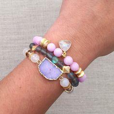 The Daisy Bracelet Stack by LovesAffect on Etsy