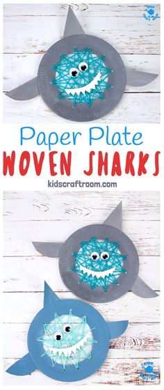 Learning to sew is loads of fun with this simple Paper Plate Shark Sewing Craft. This adorable shark craft is great for building hand-eye-coordination and fine motor skills. Woven Sharks are a fun activity for Shark Week, Summer and ocean study units! #kidscrafts #finemotorskills #shark #sharkweek #sharkcrafts #sharkactivities #sewing #kidssewing #sewingforkids #kidsactivities #oceancrafts #beachcrafts #kidscraftroom #sharks #weaving #paperplatecrafts via @KidsCraftRoom