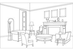 Living room coloring pages download and print for free House colouring pages Rooms home decor Beautiful living rooms