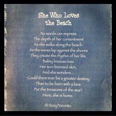 She who loves the beach!