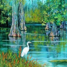 Pintura Moderna al Óleo: Paisajes de la Selva, Pintura en Acuarela, Dianne ...