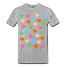 t shirts with small hearts - Google Search