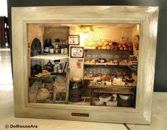 La panadería-Vintage país pequeño Pan por DollhouseAra en Etsy