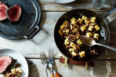 Pepper-Crusted Filets with Ricotta Gnocchi, Shiitakes & Brown Butter-Sage Sauce recipe on Food52
