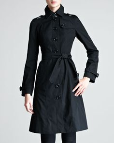 Single-Breasted Poplin Trenchcoat by Burberry London at Neiman Marcus.  I will buy this dammit.