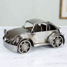 Novica Handcrafted Iron 'Rustic Vintage Car' Sculpture