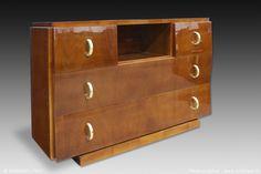 French Art Deco: Chest of drawers by Eugène PRINTZ.