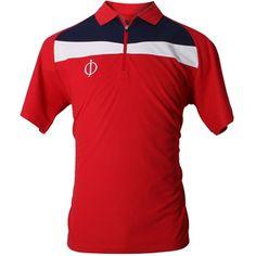 """Oscar Jacobson 2012 Men's Cole """"OJ Logo"""" Polo Shirt - Exp Red"""
