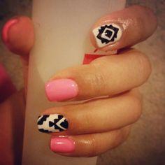 Nail art. Summer.  Tribal♡
