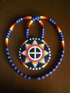 Beadwork made by Waterbirds & Rainbowz Designs Artist Marlyssa Jim, Cornersprings, AZ of the Navajo/Dine' Tribe